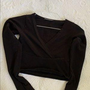 Brand Melville Black Crop Top
